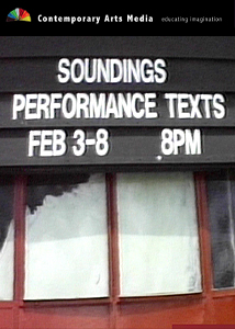 Soundings: Performance Texts, 1987